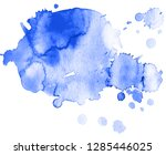 colorful abstract watercolor... | Shutterstock .eps vector #1285446025