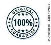 100  original guarantee label...   Shutterstock .eps vector #1285449838