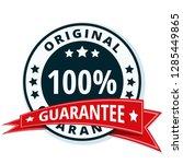 100  original guarantee label...   Shutterstock .eps vector #1285449865