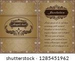 premium invitation or wedding... | Shutterstock .eps vector #1285451962