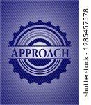 approach jean or denim emblem... | Shutterstock .eps vector #1285457578