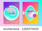 music flyer set. fluid... | Shutterstock .eps vector #1285474435