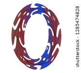 original zero symbol design.... | Shutterstock .eps vector #1285474828