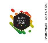 black history month design... | Shutterstock .eps vector #1285475428