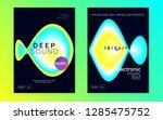 music fest set. dynamic trance... | Shutterstock .eps vector #1285475752