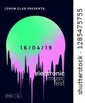 music fest. trendy trance... | Shutterstock .eps vector #1285475755