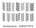 hand drawn borders elements set ... | Shutterstock .eps vector #1285477972