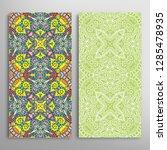 vertical seamless patterns set  ... | Shutterstock .eps vector #1285478935