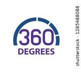 circle 360 degrees logo concept ...   Shutterstock .eps vector #1285488088