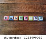 swarming text colorful letters... | Shutterstock . vector #1285499092