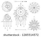 vector set of sacred geometric...   Shutterstock .eps vector #1285514572