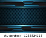 abstract blue black futuristic... | Shutterstock .eps vector #1285524115