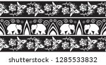 elephant border design  vector  | Shutterstock .eps vector #1285533832