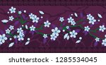 abstract floral border  vector  | Shutterstock .eps vector #1285534045