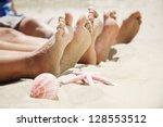 feet in the sand | Shutterstock . vector #128553512