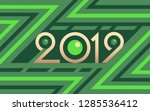 2019 geometric numbers on... | Shutterstock .eps vector #1285536412