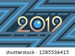 2019 geometric numbers on... | Shutterstock .eps vector #1285536415