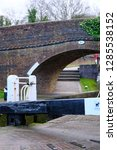 british canal lock system | Shutterstock . vector #1285538152