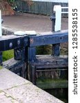 british canal lock system | Shutterstock . vector #1285538155