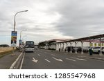 dec 21 2018 buses waiting for... | Shutterstock . vector #1285547968