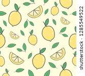 cute lemon seamless pattern... | Shutterstock .eps vector #1285549522