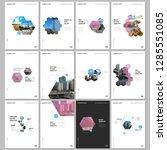 minimal brochure templates with ... | Shutterstock .eps vector #1285551085