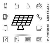 solar panels icon. simple thin...