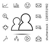 users icon. simple thin line ...