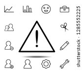 warning sign icon. simple thin...