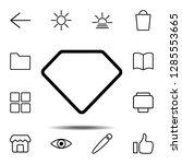 diamond icon. simple thin line  ...