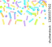 sprinkles grainy. sweet... | Shutterstock .eps vector #1285557502