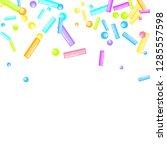 sprinkles grainy. sweet... | Shutterstock .eps vector #1285557598
