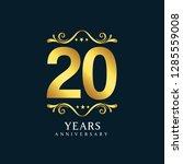 20 years anniversary vector... | Shutterstock .eps vector #1285559008