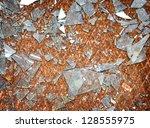 Rusty Metal Floor With Shards...