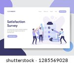 landing page template of... | Shutterstock .eps vector #1285569028
