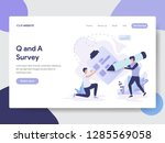 landing page template of... | Shutterstock .eps vector #1285569058