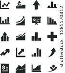 solid black vector icon set  ...   Shutterstock .eps vector #1285570312