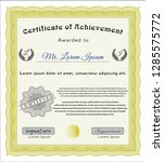yellow awesome certificate... | Shutterstock .eps vector #1285575772