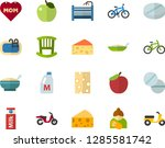 color flat icon set   mothers... | Shutterstock .eps vector #1285581742