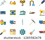 color flat icon set   auto... | Shutterstock .eps vector #1285582678