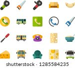 color flat icon set   cheese... | Shutterstock .eps vector #1285584235