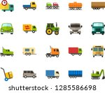 color flat icon set   car flat... | Shutterstock .eps vector #1285586698