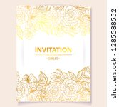 romantic wedding invitation... | Shutterstock .eps vector #1285588552