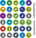 white solid icon set  soap...   Shutterstock .eps vector #1285589932