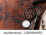 spices for meat and kitchen...   Shutterstock . vector #1285604902