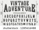 classic vintage 3d font... | Shutterstock .eps vector #1285616488