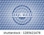 injured blue polygonal badge. | Shutterstock .eps vector #1285621678
