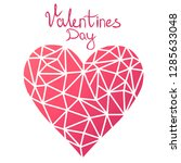 abstract heart  valentine's day.... | Shutterstock .eps vector #1285633048