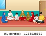 a vector illustration of muslim ... | Shutterstock .eps vector #1285638982