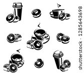 donut set. donuts collection...   Shutterstock .eps vector #1285643698